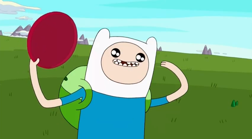 S5 e4 Finn with throwing and catching disc