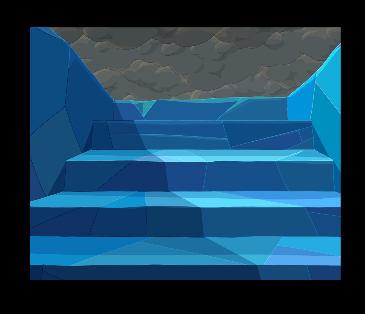 Bg s6e24 steps to top of ice tower
