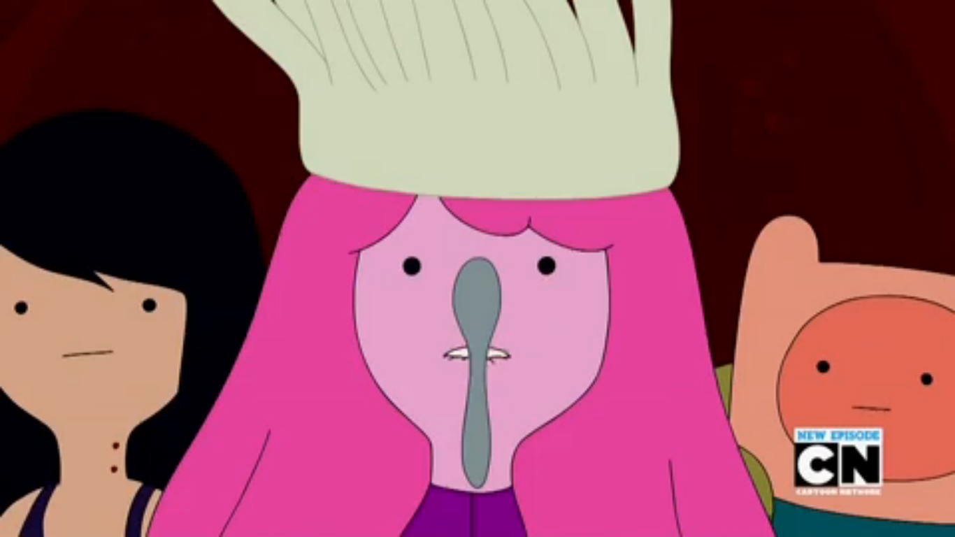 S5e38 PB balancing spoon on her nose