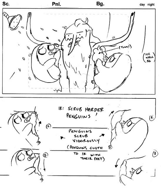 Scrub Harder Penguins Storyboard