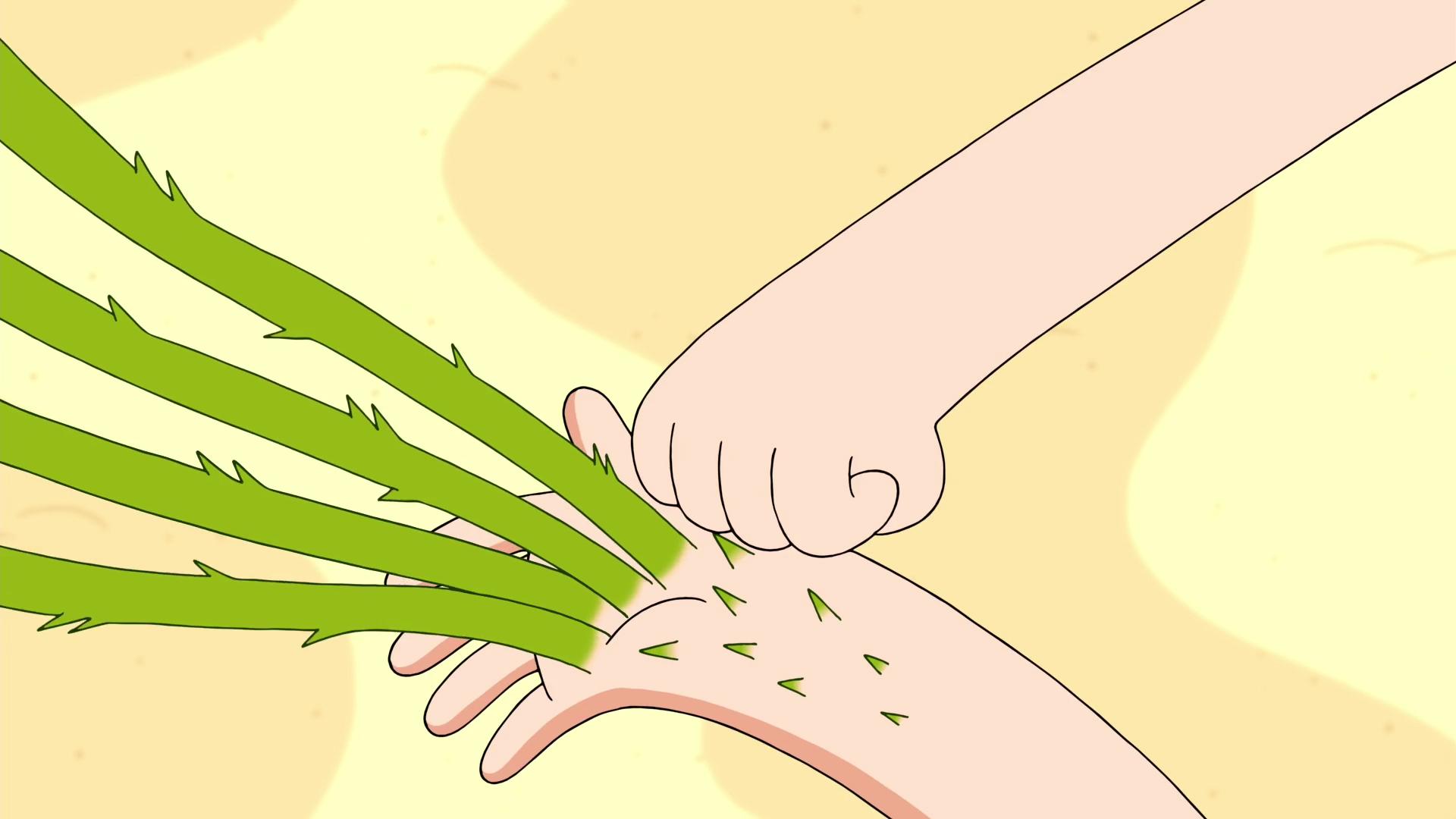 Finn Hits his Grass Arm
