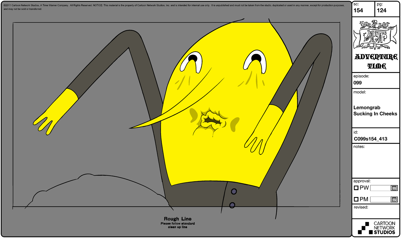 Modelsheet Lemongrab Sucking in Cheeks