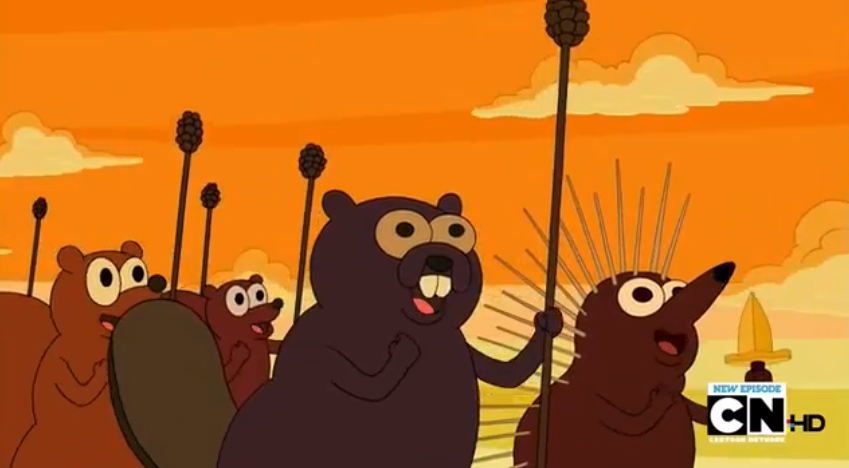 S5 e4 Animals marching and chanting