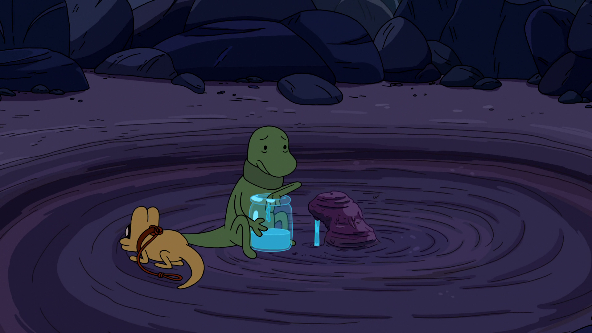 S6e24 Gunther filling jar with water