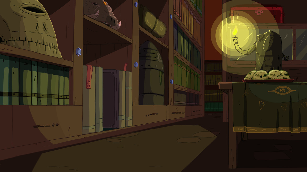 Hug Wolf library background