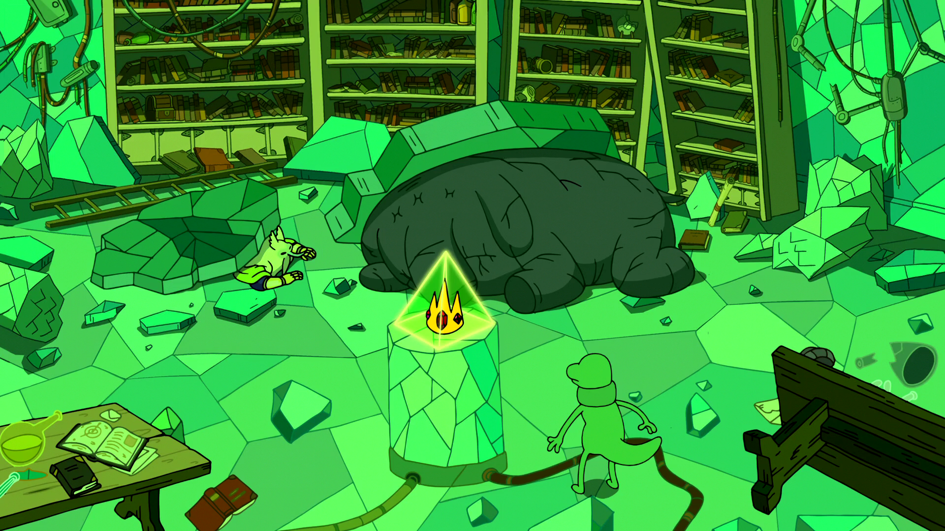 S6e24 Evergreen and Magwood pinned under rubble