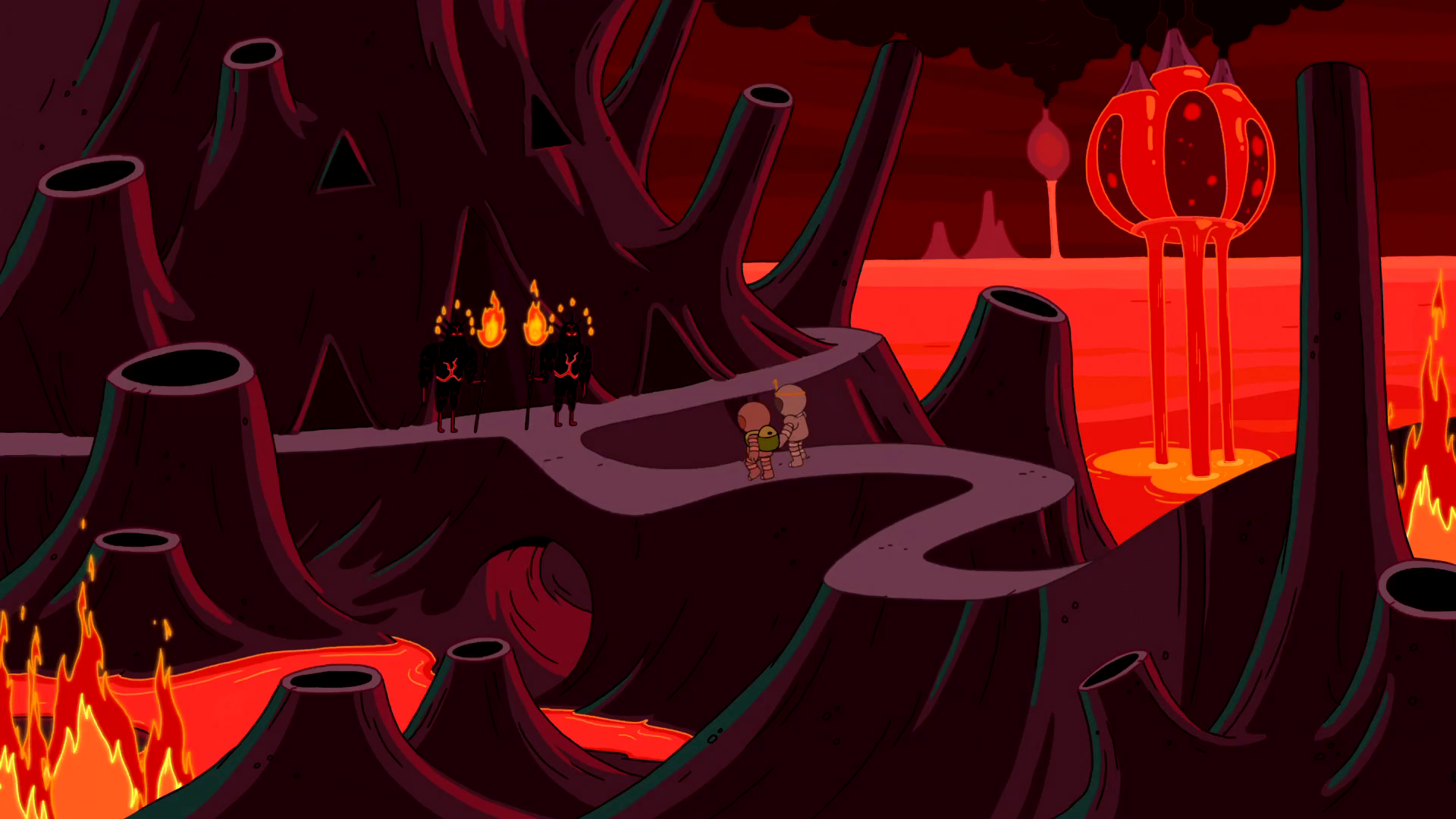 S5e32 Finn and PB in Fire Kingdom