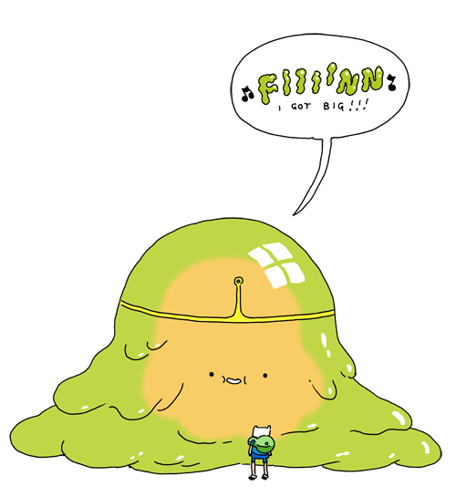 Slime Princess concept art by writer and storyboard artist Steve Wolfhard