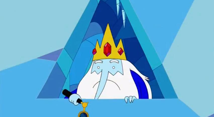 S5 e18 Ice King holding spy glasses