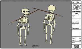 Modelsheet skeleton withspearinneck