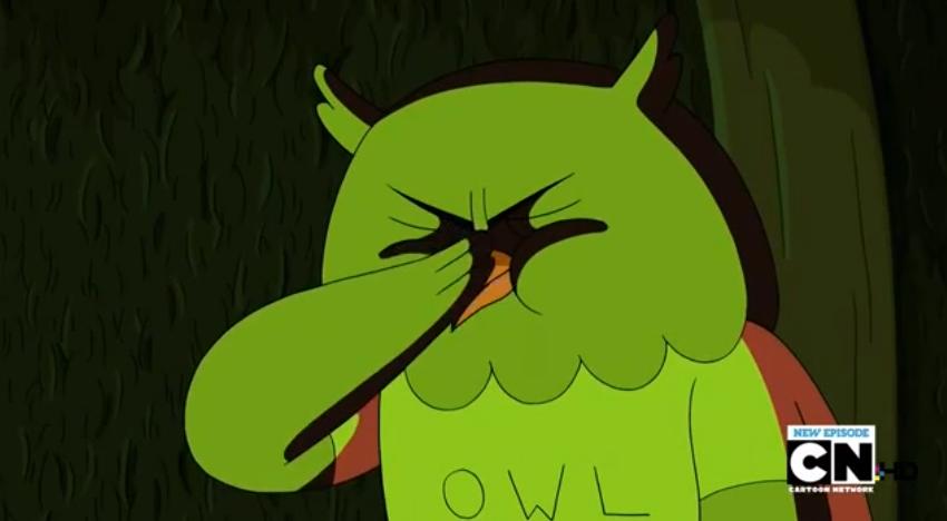 S5 e4 Owl face palm