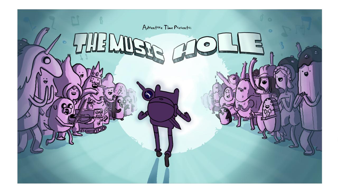 Music Hole Title Card Design