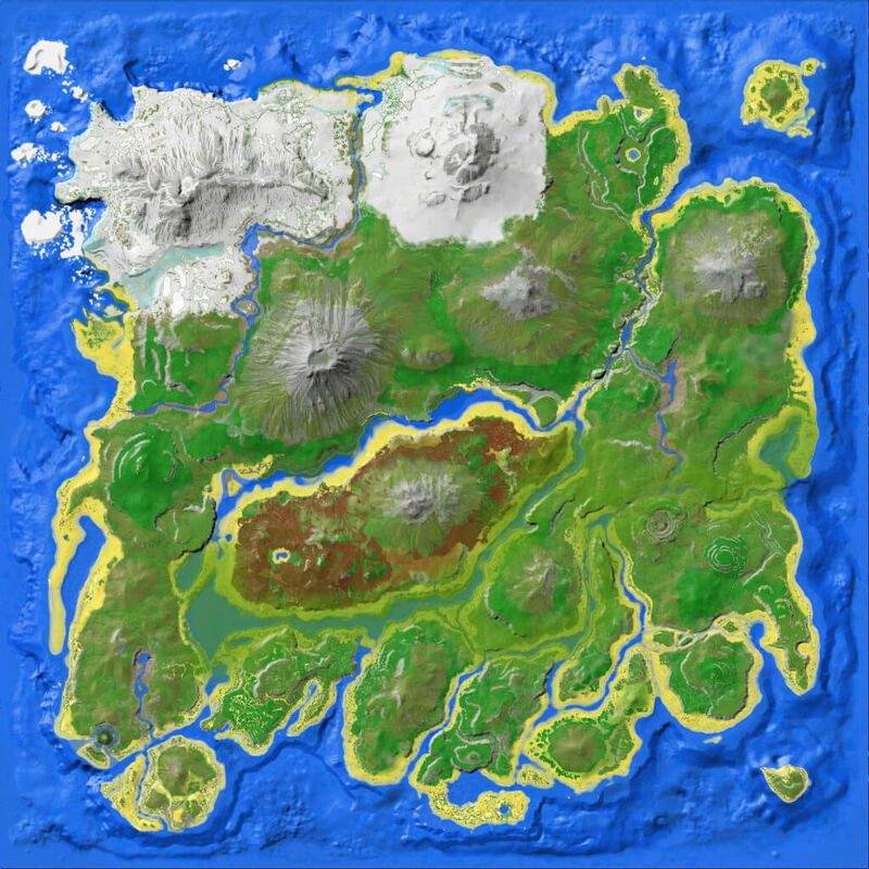 The Island Ark Map Dungrons