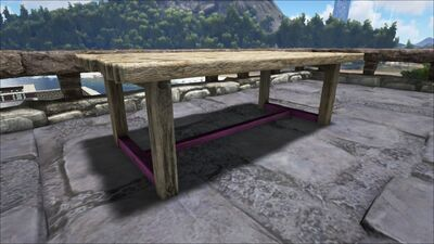 Wooden Table - Official ARK: Survival Evolved Wiki