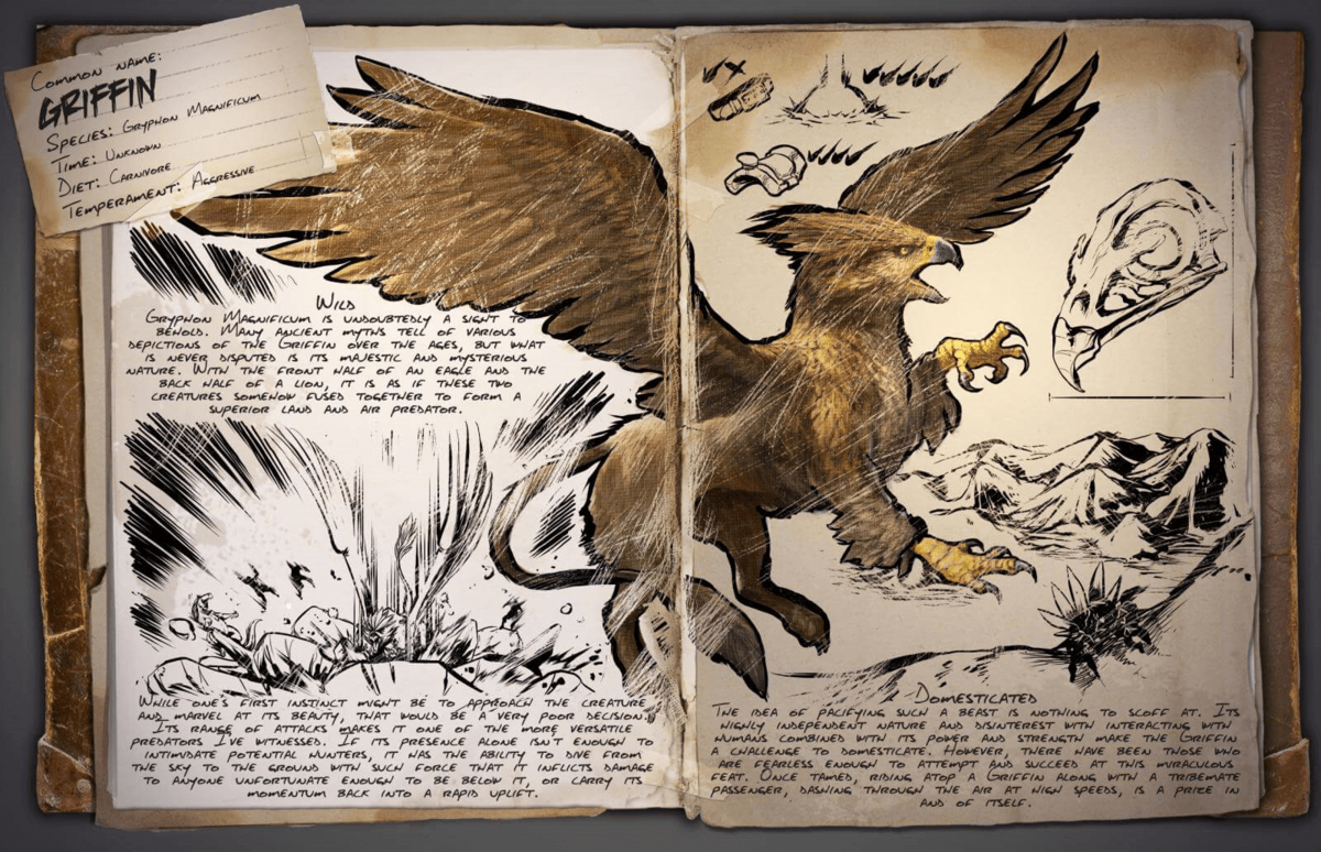 Griffin official ark survival evolved wiki for The griffin