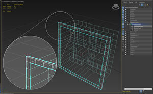 Note that the inner most edge of the Conforming Mesh lines up perfectly with the outer most edge of the Skinned Mesh.