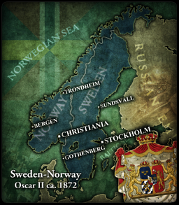 SwedenNorway Oscar II Civilization V Customization Wiki - Norway map game