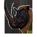 黑犀牛頭戰利品