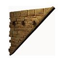 右斜倒置石砖墙
