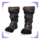 极佳的鬣狗毛皮靴子
