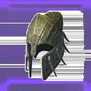 無瑕的爬行動物頭盔