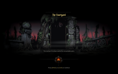 Loading screen of the Courtyard