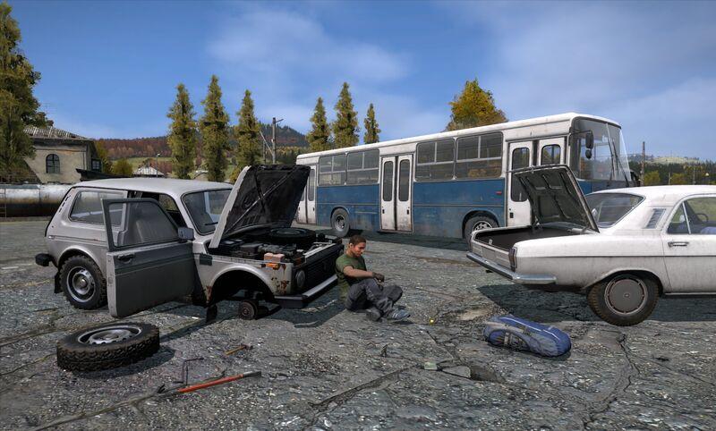 как чинить технику с помощью грузовика в арма 3