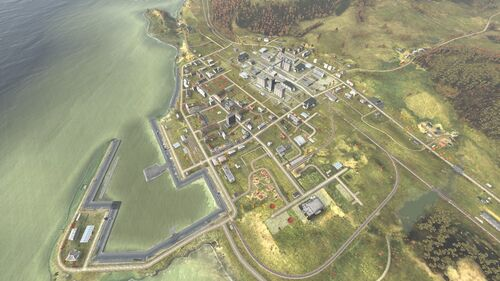 Aerial shot of Chernogorsk