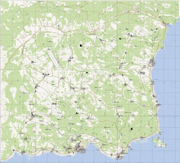 A map of ChernarusPlus