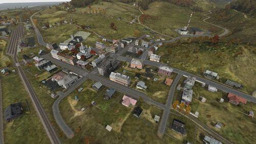 Aerial shot of Elektrozavodsk North/East