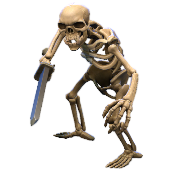 Dark Troll Summoner Skeleton Warrior model.png