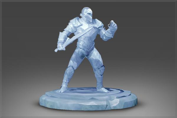Геройская ледяная статуя