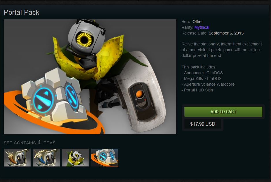 Portal Pack in Dota 2 Store