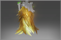 Cosmetic icon Golden Ornithomancer Mantle of the Benefactor.png