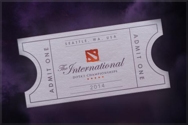 The International 2014: Билет