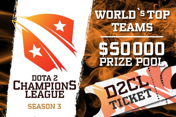 Dota 2 Champion's League Season 3 Ticket