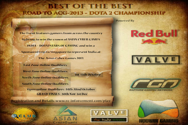 Road to the Asian Cyber Games 2013 - Indian Qualifier