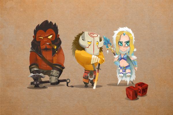 Загрузочный экран: Three Heroes