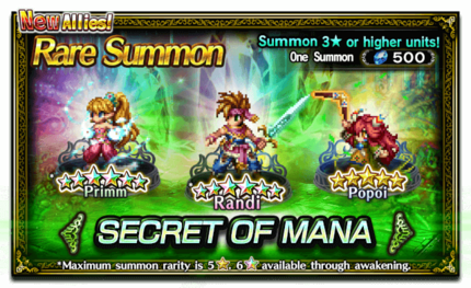 Featured Summon for Secrets of Mana