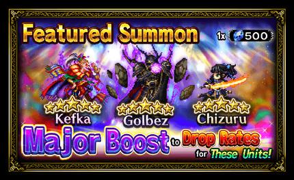 Unit Release: Kefka, Golbez, and Chizuru