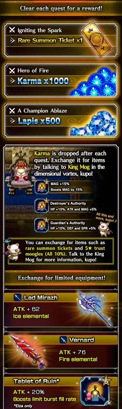 Grand Gaia Chronicles Rewards