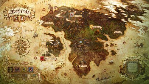 Map of Eorzea.
