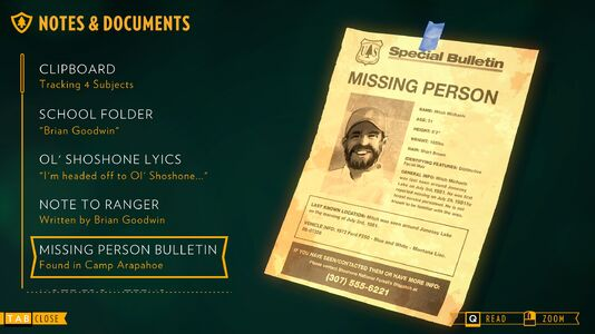 Missing Person Bulletin Firewatch Wiki – Missing Person Flyer