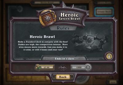 Heroic Tavern Brawl - Hearthstone Wiki