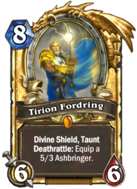 Tirion Fordring Hearthstone Wiki