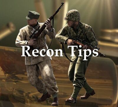 Recon tips for playing the game!