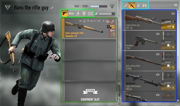 Character customization panel