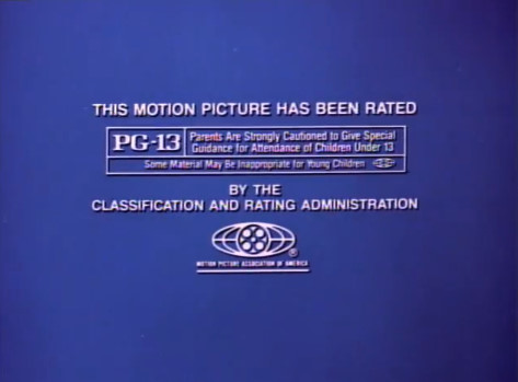 MPAA PG-13 Rating Screen (1985)