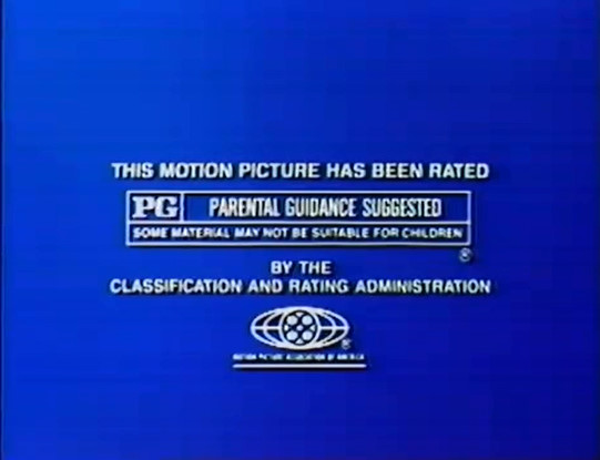 MPAA PG Rating Screen (1984)
