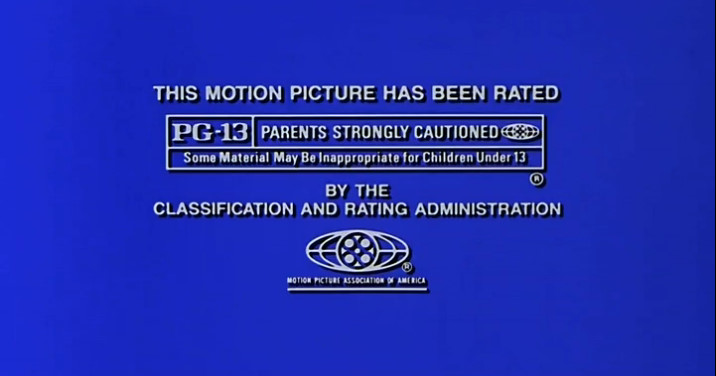 MPAA PG-13 Rating Screen (2000)